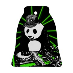Deejay Panda Bell Ornament (two Sides) by Valentinaart