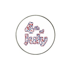 4th Of July Independence Day Hat Clip Ball Marker by Valentinaart