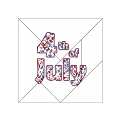 4th Of July Independence Day Acrylic Tangram Puzzle (4  X 4 ) by Valentinaart