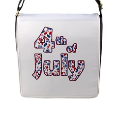 4th Of July Independence Day Flap Messenger Bag (l)  by Valentinaart