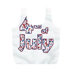 4th Of July Independence Day Full Print Recycle Bags (m)  by Valentinaart