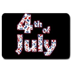 4th Of July Independence Day Large Doormat  by Valentinaart