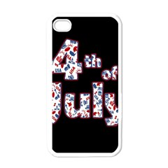 4th Of July Independence Day Apple Iphone 4 Case (white) by Valentinaart