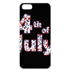 4th Of July Independence Day Apple Iphone 5 Seamless Case (white) by Valentinaart