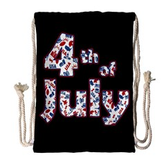 4th Of July Independence Day Drawstring Bag (large) by Valentinaart