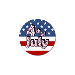 4th Of July Independence Day Golf Ball Marker (4 Pack) by Valentinaart