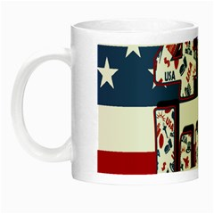 4th Of July Independence Day Night Luminous Mugs by Valentinaart