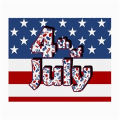 4th Of July Independence Day Small Glasses Cloth by Valentinaart