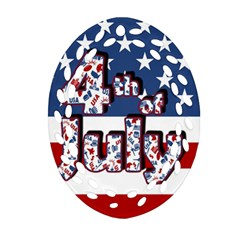 4th Of July Independence Day Oval Filigree Ornament (two Sides) by Valentinaart