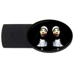 Horror Nuns Usb Flash Drive Oval (4 Gb) by Valentinaart
