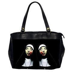Horror Nuns Office Handbags (2 Sides)  by Valentinaart