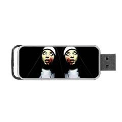 Horror Nuns Portable Usb Flash (two Sides) by Valentinaart