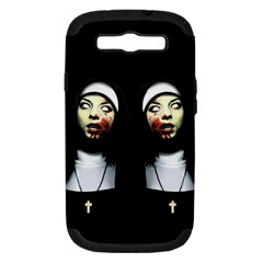Horror Nuns Samsung Galaxy S Iii Hardshell Case (pc+silicone) by Valentinaart
