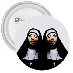 Horror Nuns 3  Buttons by Valentinaart