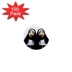 Horror Nuns 1  Mini Magnets (100 Pack)  by Valentinaart