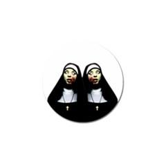 Horror Nuns Golf Ball Marker by Valentinaart