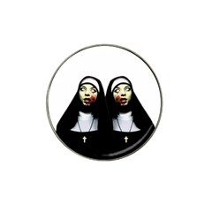 Horror Nuns Hat Clip Ball Marker by Valentinaart