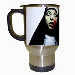 Horror Nuns Travel Mugs (white) by Valentinaart