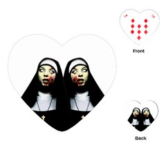 Horror Nuns Playing Cards (heart)  by Valentinaart