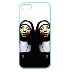 Horror Nuns Apple Seamless Iphone 5 Case (color) by Valentinaart