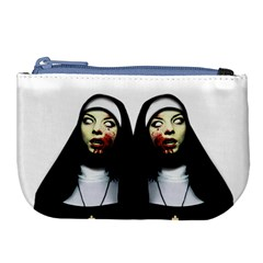 Horror Nuns Large Coin Purse by Valentinaart