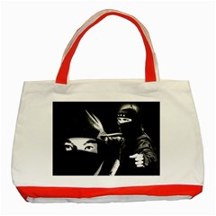 Ninja Classic Tote Bag (red) by Valentinaart