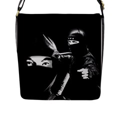 Ninja Flap Messenger Bag (l)  by Valentinaart