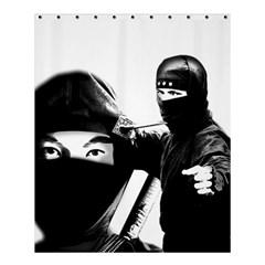 Ninja Shower Curtain 60  X 72  (medium)  by Valentinaart