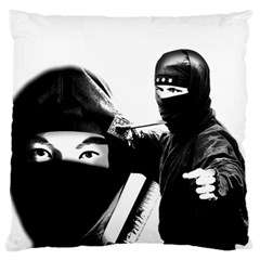Ninja Standard Flano Cushion Case (two Sides) by Valentinaart
