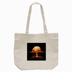 Nuclear Explosion Tote Bag (cream) by Valentinaart