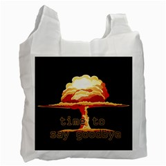 Nuclear Explosion Recycle Bag (one Side) by Valentinaart