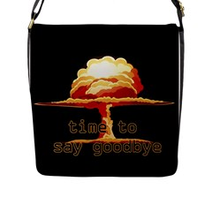 Nuclear Explosion Flap Messenger Bag (l)  by Valentinaart
