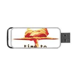 Nuclear Explosion Portable Usb Flash (two Sides) by Valentinaart