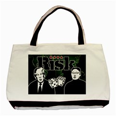 Nuclear Explosion Trump And Kim Jong Basic Tote Bag by Valentinaart
