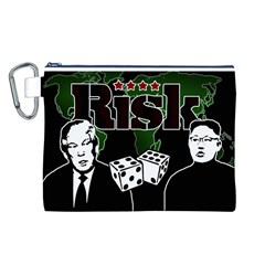 Nuclear Explosion Trump And Kim Jong Canvas Cosmetic Bag (l) by Valentinaart