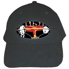 Nuclear Explosion Trump And Kim Jong Black Cap by Valentinaart