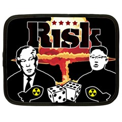Nuclear Explosion Trump And Kim Jong Netbook Case (xxl)  by Valentinaart