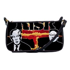 Nuclear Explosion Trump And Kim Jong Shoulder Clutch Bags by Valentinaart