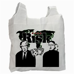 Nuclear Explosion Trump And Kim Jong Recycle Bag (one Side) by Valentinaart