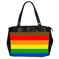 Philadelphia Pride Flag Office Handbags (2 Sides)  by Valentinaart