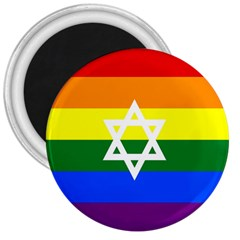 Gay Pride Israel Flag 3  Magnets by Valentinaart