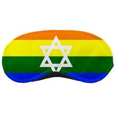 Gay Pride Israel Flag Sleeping Masks by Valentinaart