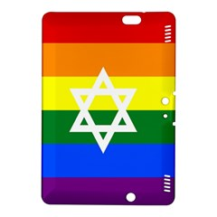 Gay Pride Israel Flag Kindle Fire Hdx 8 9  Hardshell Case by Valentinaart