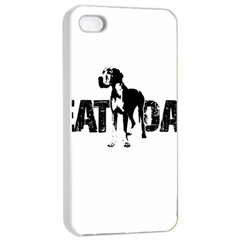 Great Dane Apple Iphone 4/4s Seamless Case (white) by Valentinaart
