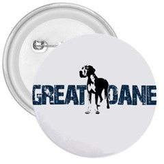 Great Dane 3  Buttons by Valentinaart