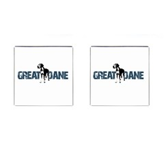 Great Dane Cufflinks (square) by Valentinaart