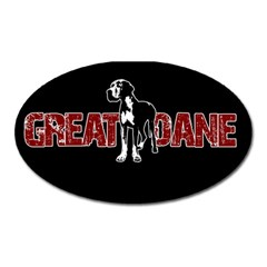 Great Dane Oval Magnet by Valentinaart
