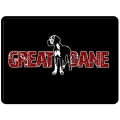 Great Dane Fleece Blanket (large)  by Valentinaart