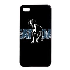 Great Dane Apple Iphone 4/4s Seamless Case (black) by Valentinaart