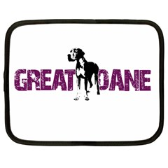 Great Dane Netbook Case (large) by Valentinaart